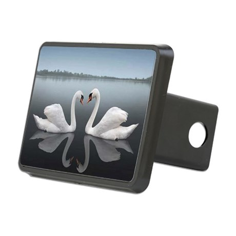 Swan Reflection Rectangular Hitch Cover