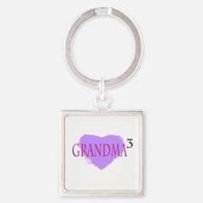 Grandma to the Third Power Square Keychain