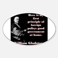 Here Is My First Principle - William Gladstone Sti