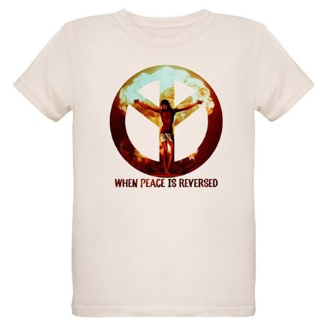 when peace is reversed Organic Kids T-Shirt