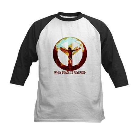 when peace is reversed Kids Baseball Jersey