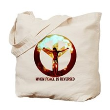 when peace is reversed Tote Bag