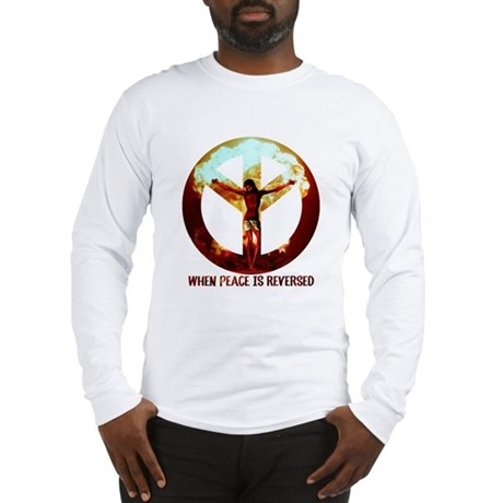 when peace is reversed Long Sleeve T-Shirt