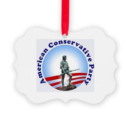 CONSERVATIVE CAUSE Picture Ornament