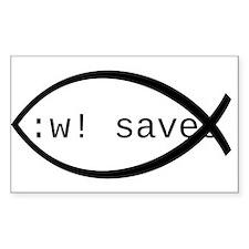 :w! saves ichthys (black) Decal