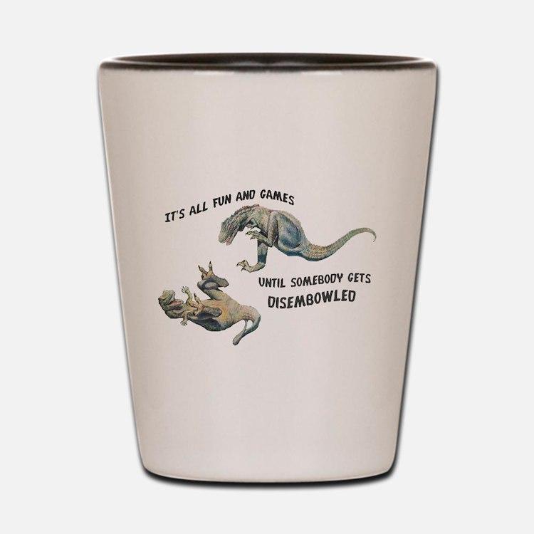 Cute Paleontology Shot Glass