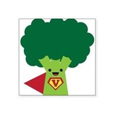 """Super Brocoli Square Sticker 3"""" x 3"""""""