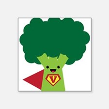 "Super Brocoli Square Sticker 3"" x 3"""