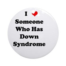 Down Syndrome Love Ornament (Round)
