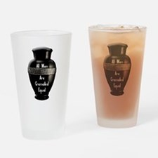 Unique Funeral Drinking Glass