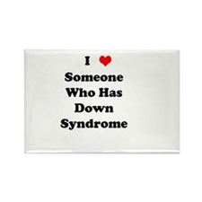 Down Syndrome Love Rectangle Magnet