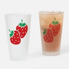 Sweet Strawberries Drinking Glass
