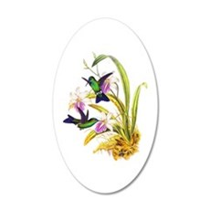 Hummingbirds 20x12 Oval Wall Decal