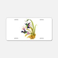 Hummingbirds Aluminum License Plate