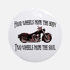 Two Wheels Move Ornament (Round)