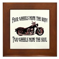 Two Wheels Move Framed Tile