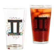 Cute Gemini symbol with stars Drinking Glass