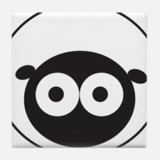Round Sheep Tile Coaster