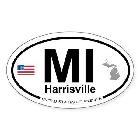 Harrisville, MI Sticker (Oval)