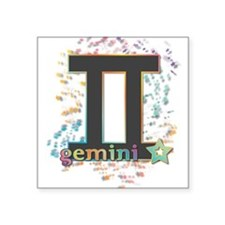 "Gemini Square Sticker 3"" x 3"""