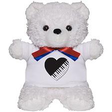 Piano Heart Teddy Bear