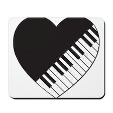 Piano Heart Mousepad