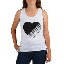 Piano Heart Women's Tank Top