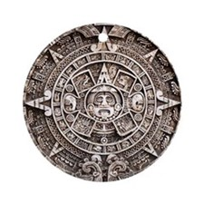 Mayan End of the World 2012 Calendar Ornament (Rou