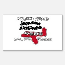Jackson Airlines Sticker (Rectangle)