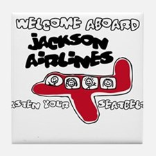 Jackson Airlines Tile Coaster