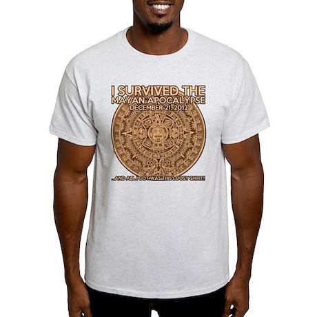 funny mayan apocalypse 2012 survivor Light T-Shirt