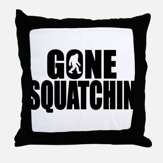 Gone Squatchin - Brute Throw Pillow