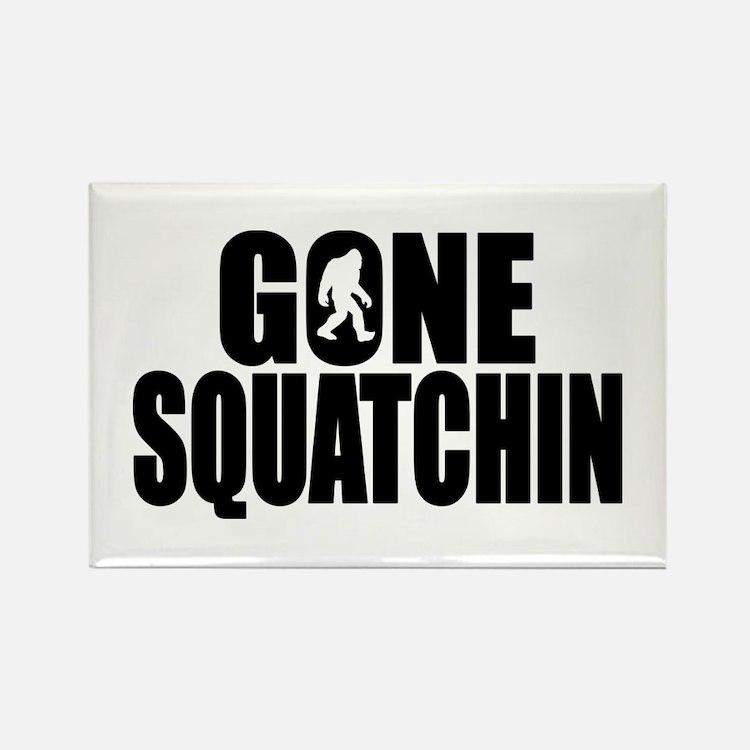 Gone Squatchin - Brute Rectangle Magnet