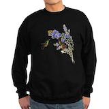 Flowers and birds Sweatshirt (dark)
