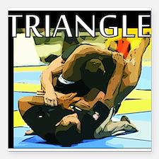 """BJJ Triangle Choke Square Car Magnet 3"""" x 3"""""""