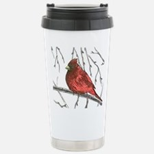 Northern Cardinal Stainless Steel Travel Mug