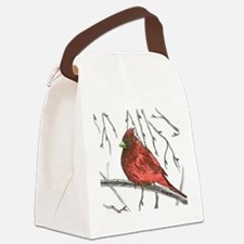 Northern Cardinal Canvas Lunch Bag
