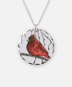 Northern Cardinal Necklace