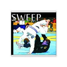 "BJJ Sweep Square Sticker 3"" x 3"""
