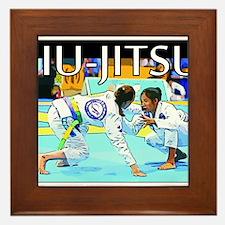 Jiu-Jitsu BJJ Girls Framed Tile