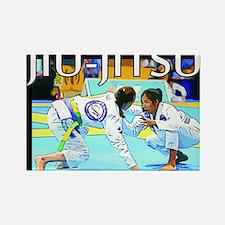 Jiu-Jitsu BJJ Girls Rectangle Magnet