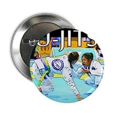 "Jiu-Jitsu BJJ Girls 2.25"" Button"