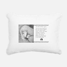 White Buffalo Legend~Rectangular Canvas Pillow