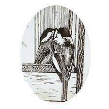 Chickadee Sees Ornament (Oval)