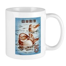 1955 Japan Mandarin Duck Postage Stamp Mug