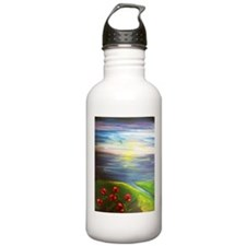 Six Flowers Swaying Sports Water Bottle