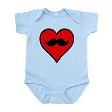 I Love My Mustache Infant Bodysuit
