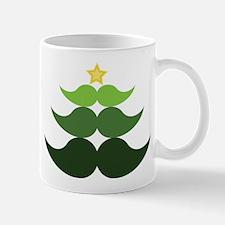 Mustache Christmas Tree Mug