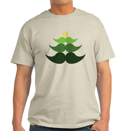 Mustache Christmas Tree Light T-Shirt