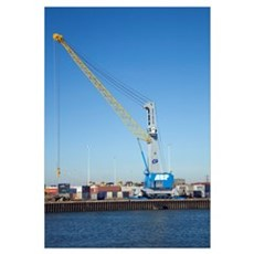 Dockside crane Framed Print